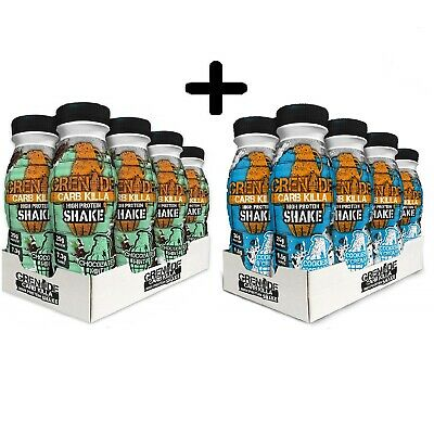 Grenade Carb Killa High Protein Low Carbs Shake Drink 16 x 330ml Mix Of Flavours