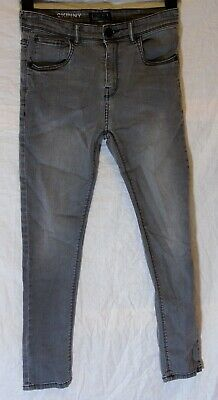 Boys Next Mid Grey Denim Adjustable Waist Skinny Stretch Jeans Age 13-14 Years