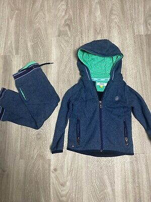 Baker By Ted Baker Navy Boys Tracksuit Joggers Zip Hoodied Top 2-3 Years