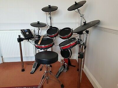 alesis crimson electronic drum kit with extras