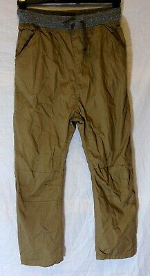 Boys Next Mid Brown Drop Crotch Cotton Lined Casual Trousers Age 14 Years