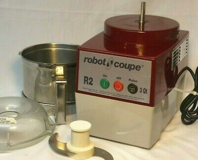 Robot Coupe R2N Combination Food Processor w/ 3 Qt. SS Bowl and Shredder Attach.