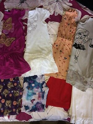 Bundle Girls Spring Summer Clothes 7-8 Years Leggings Tunic Tops George H&M