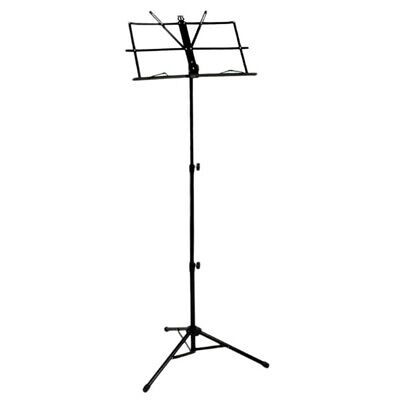 2X(Folding Sheet Music iron Holder Stand with Bag (Color: Black) K4V6)