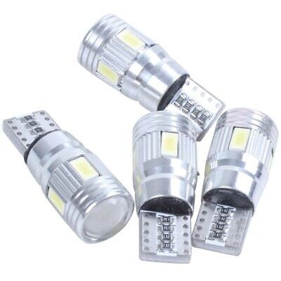 2X(4 x T10 Canbus W5W 5630 6SMD Auto Vehicle LED Bulb Car Lamp 194 168 Pure V4V4