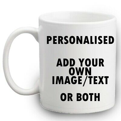 PERSONALISED PHOTO MUG CUSTOM CUP NAME GIFT DESIGN Christmas Birthday Valentines