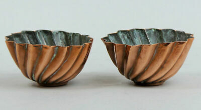 A Lovely Pair Of Victorian Antique Copper Jelly Moulds C.1880