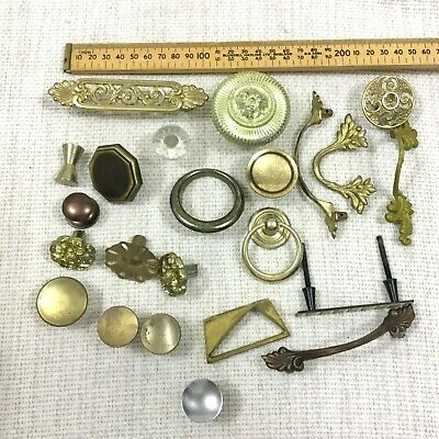 Vintage Drawer Handles Knobs Pull Mixed Job Lot Bundle Old Reclaimed Salvaged
