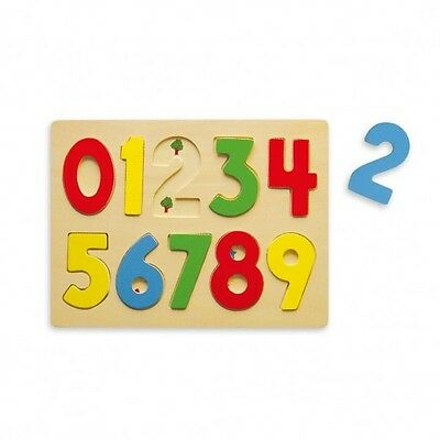 Viga Children's/Kids Wooden My First Numbers Puzzle/123 Puzzle