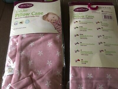 5 x Clevamama pink Toddler pillow cases, absolute bargain price!