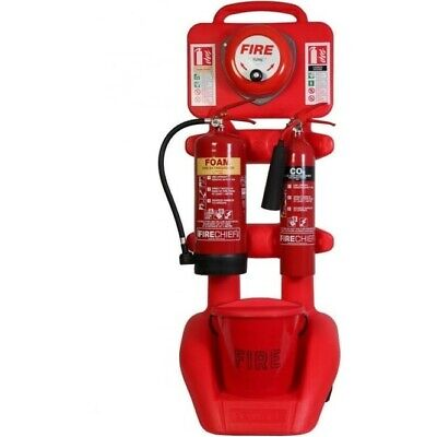 Fire Extinguisher Trolley With Bell And Extinguishers