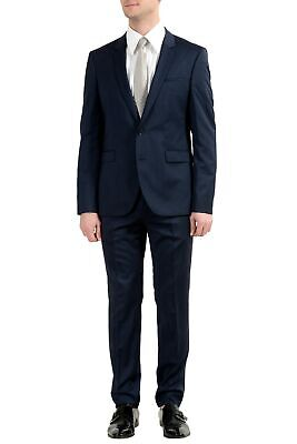 "Hugo Boss ""Phil/Taylor182"" Men's 100% Wool Extra Slim Striped Two Button Suit"