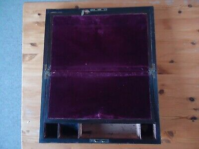 antique wooden writing box, needs repairing , dates fro 1800's.