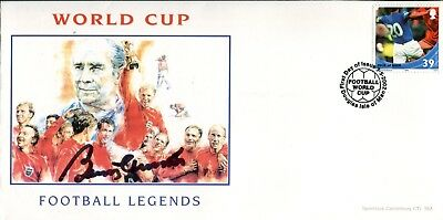 1966 World Cup winner Sir Bobby Charlton signed Football Legends cover