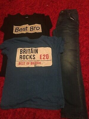Boys Jeans And Tshirt Set Aged 7-9