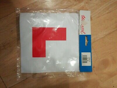 Universal L Plates, Pack Of 2 Tie On, New In Original Packaging
