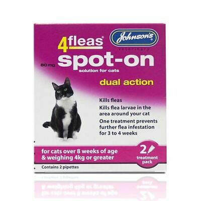 Johnson's Veterinary 4fleas Dog Puppy Flea Treatment Tablets Cat Kitten Spot On