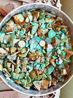 Turquoise rough 3 pounds kingman number 8 morenci