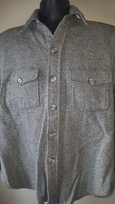 VTG 70's WOOLRICH Wool Heavy Buffalo Jacket Grey Hunting Button Up Size Med USA