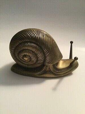 Awesome vintage Large BRASS SNAIL made in Korea