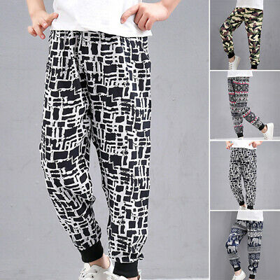 Kids Toddler Boys Sports Boho Loose Jogger Sweatpants Casual Printed Trousers