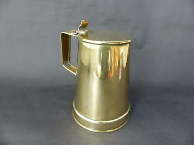 19th c Brass Lidded Jug, Richard Perry, Sons and Co, Wolverhampton
