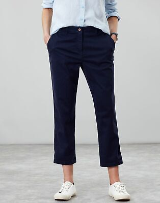 Joules Womens Hesford Crop Chinos in FRENCH NAVY Size 20