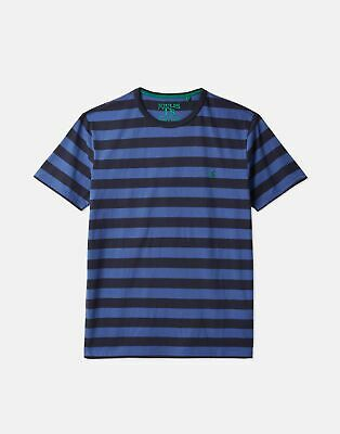 Joules 207073 Short Sleeve Crew Neck Tee in NAVY BLUE STRIPE Size S
