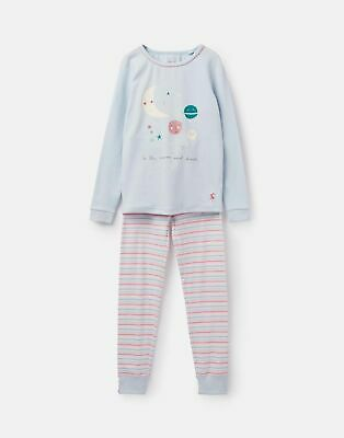 Joules Girls Sleepwell Pyjama Set 1 12 Years in BLUE MOON AND BACK Size 3yr