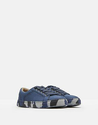Joules Boys Parker Cupsole Trainers in NAVY Size Childrens 8