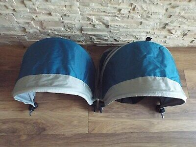 *** Baby Jogger City Mini - Teal Canopy / Hood Complete- Double Pushchair ***