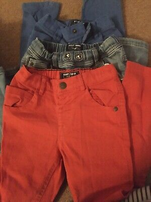 3x Boys Age 5-6 Jeans And Trousers By Next