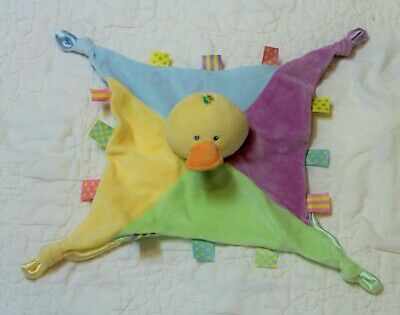 KIDS Preferred YELLOW DUCK Lovey Security baby BLANKET tags