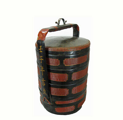 Chinese Antique Bamboo Food Basket