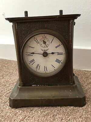 Antique Old Carrige Clock For Spare Or Repair
