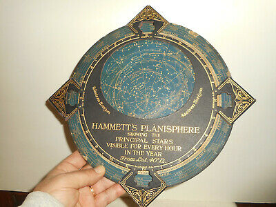 HAMMETT'S PLANISPHERE SHOWING THE PRINCIPLE STARS Ca 1900 Made in Great Britain