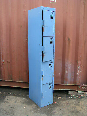 Blue 8 Door Metal Locker Cabinet School Storage