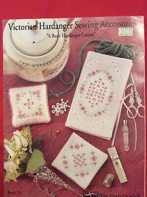 Victorian Hardanger Sewing Accessories Book #25 Design By Linda Driskell