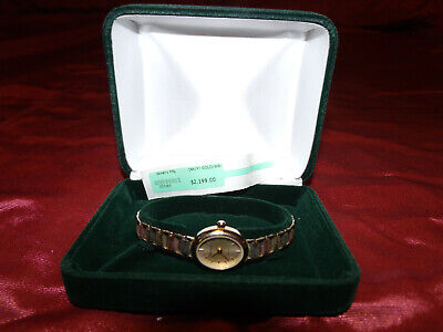 Ladies Tri-Color 14k White,Yellow & Rose Gold Swiss Made Geneve Watch Waterproof