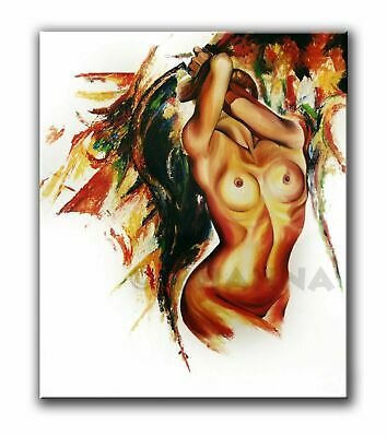 ORIGINAL ART Oil PAINTING expressive woman colourfull CONTEMPORARY ABSTRACT