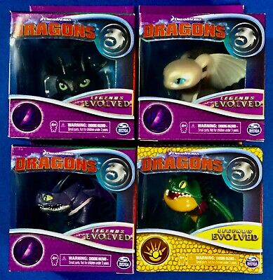 How To Train Your Dragon Legends Evolved Figures Set Toothless, Light Fury more