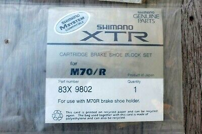NOS Shimano XTR cartridge brake shoe pad set M70/R NEW