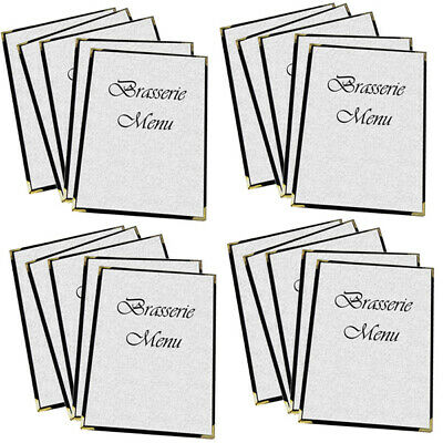 Bulk Pack of 50 Large Bistro Cafe Menu A3 with 1 pocket