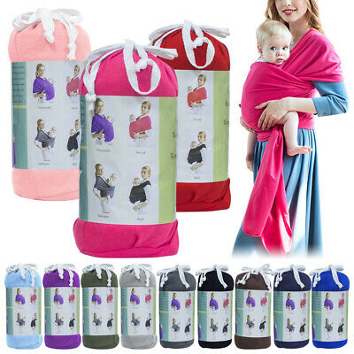 Baby Wrap Carrier Adjustable Breastfeeding Cover Cotton Sling Carrier for Infant