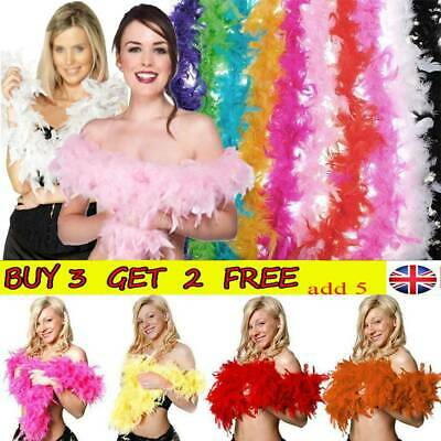 2M Feather Boa Strip Fluffy Craft Costume Fancy Dress Wedding Party Decor Xmas