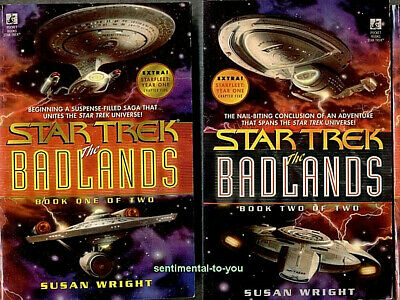 Star Trek TOS TNG DS9 Voyager BADLANDS Complete lot/set 2 1st Print PB Novels