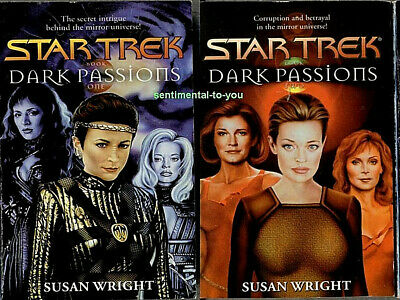 Star Trek Mirror Universe DARK PASSIONS Complete lot/set 2 1st Print PB Novels