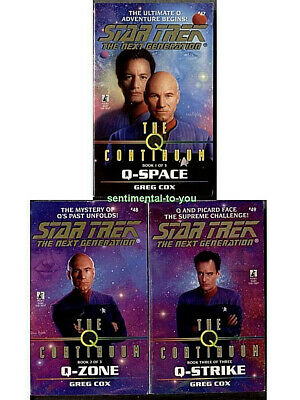 Star Trek:The Next Generation TNG Vol 47,48,49 Q-CONTINUUM 3 1st Print PB Novels