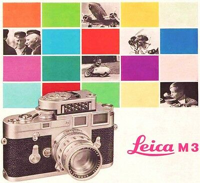 LEICA M3 RANGE-VIEWFINDER CAMERA BROCHURE -from 1961 leica m3