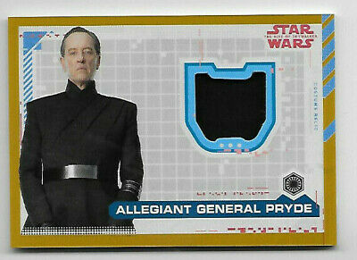 2019 Topps Star Wars Rise of Skywalker ALLEGIANT GENERAL PRYDE GOLD Relic #06/25